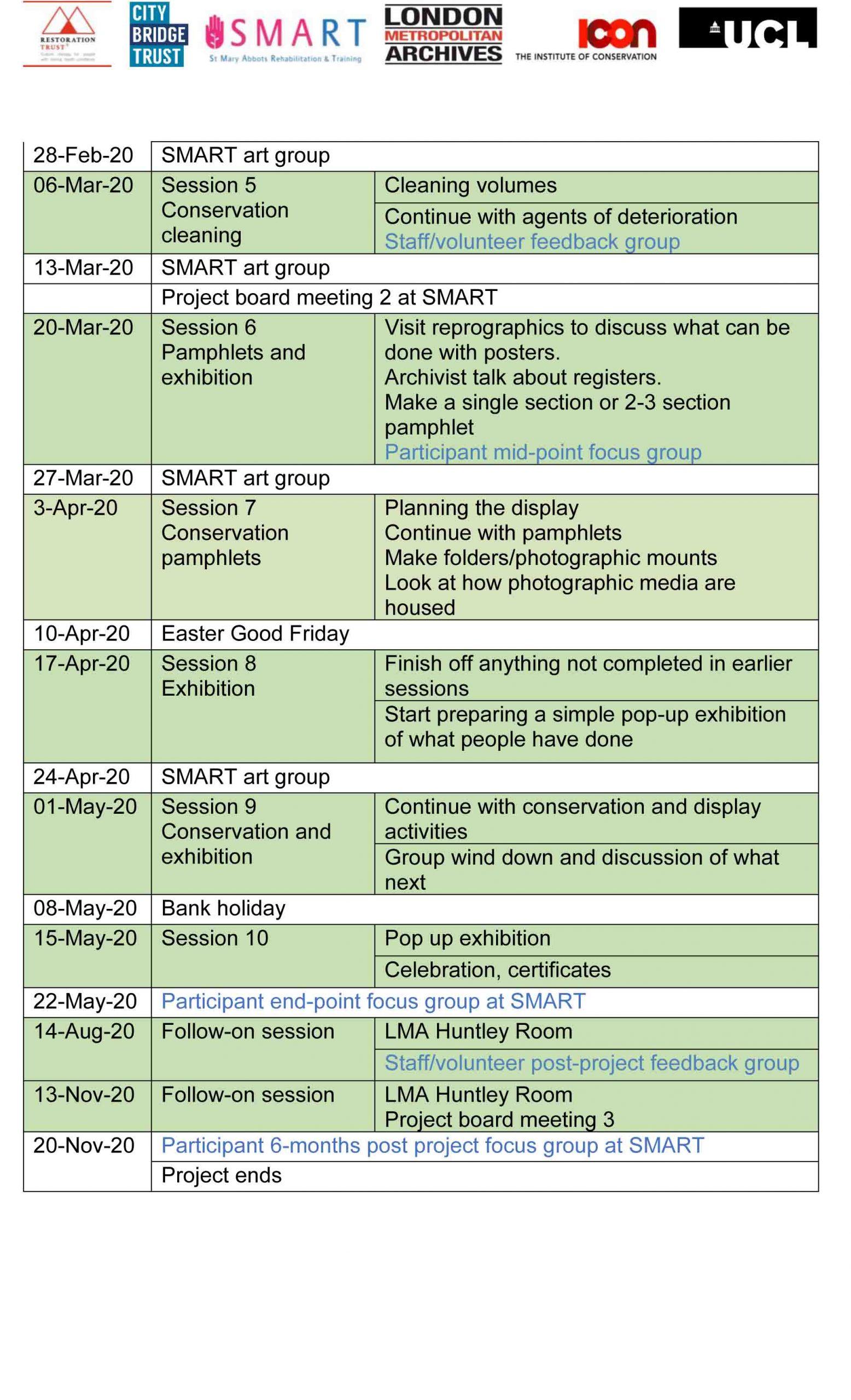 C4W Timetable